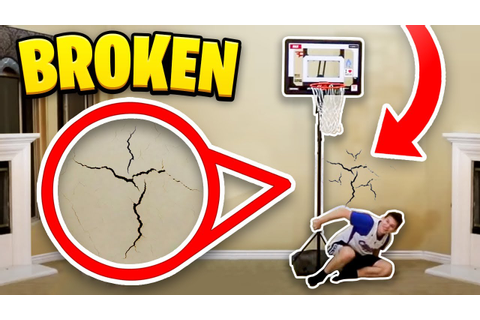 HOUSE 2 V 2 MINI BASKETBALL! GONE WRONG BROKEN WALL - YouTube