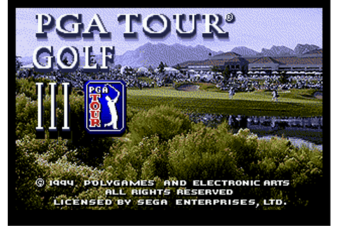 Play PGA Tour Golf III Sega Genesis online | Play retro ...
