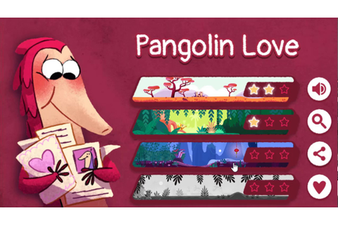 Google Doodle Valentine's day Game 2017 | Pangolin love ...