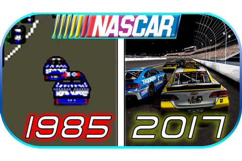 EVOLUTION of NASCAR GAMES in 4 minutes (1985-2017) Video ...