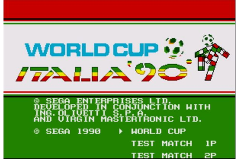 Retro Gaming Review: World Cup Italia 90 - Sega Megadrive ...