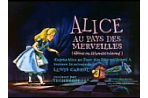 Alice au Pays Des Merveilles Original Title 1951 - YouTube