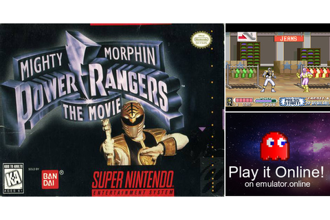 Play Mighty Morphin Power Rangers: The Movie on Super Nintendo