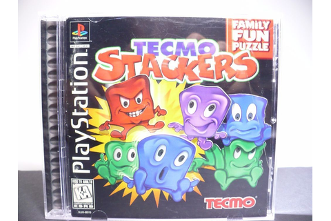 Tecmo Stackers (PlayStation 1, 1997) PS1 Complete with ...