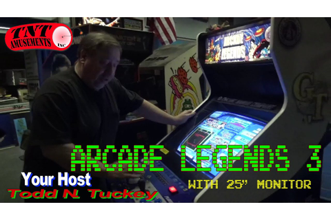 #883 Chicago Gaming ARCADE LEGENDS 3 with oddball Taito ...