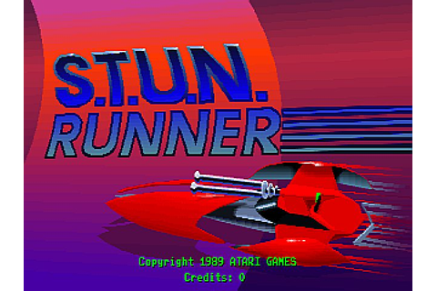 S.T.U.N. Runner (1989) by Atari Arcade game