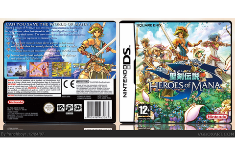 Heroes of Mana Nintendo DS Box Art Cover by frenchboy1