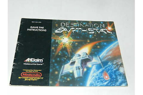 Destination Earthstar Nintendo NES Video Game Manual Only ...