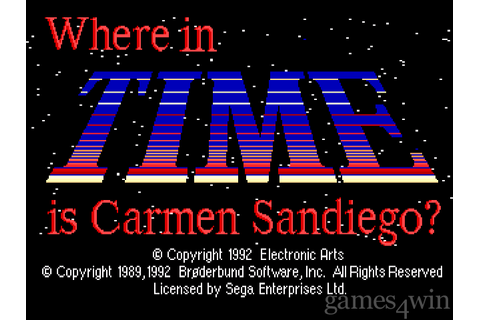 Where In Time Is Carmen Sandiego? Download on Games4Win