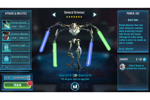 Star Wars Galaxy of heroes GENERAL GRIEVOUS - YouTube