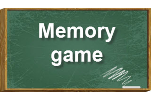 Memory game | LearnEnglish Kids | British Council