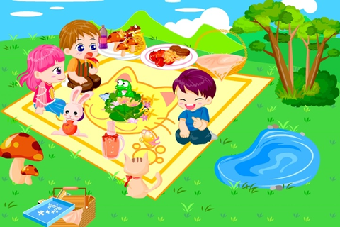 Picnic Garden Game - Decorating games - Games Loon