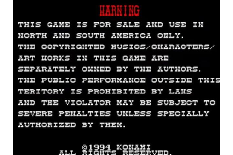 Warning Screen (1994) | Lethal Enforcers II: Gunfighters ...