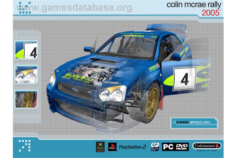 Colin McRae Rally 2005 - Microsoft Xbox - Games Database