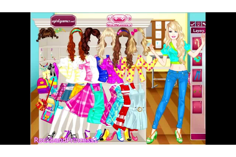Barbie School Girl Dress Up Game - Girls Games - YouTube