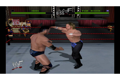WWF Attitude Triple H Vs The Rock HD - YouTube