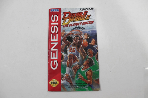 Manual - Double Dribble The Playoff Edition - Sega Genesis