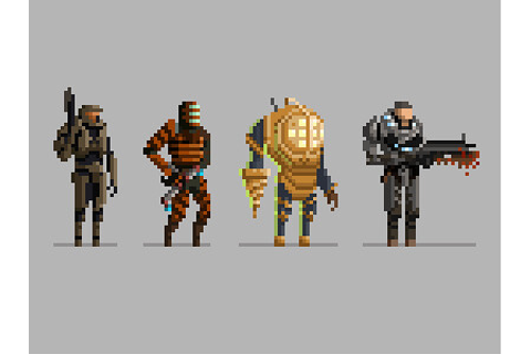 Pixel Video Game Characters | slaterman23 | Flickr