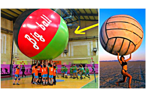 BIGGEST VOLLEYBALL BALLS | Volleyball With Very Big Ball ...