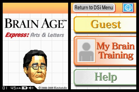 Brain Age Express: Arts & Letters (DSiWare) Game Profile ...