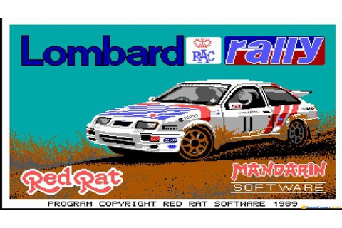 Lombard RAC Rally gameplay (PC Game, 1988) - YouTube