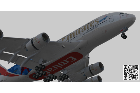 3D model Airbus A380-8 Emirates los angeles dodgers A6-EON ...