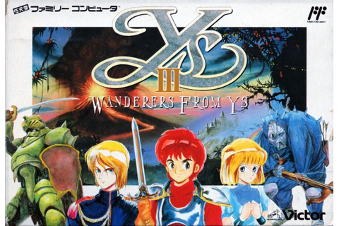 Ys III: Wanderers from Ys (1991) Genesis box cover art ...