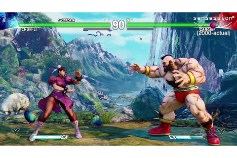 Street Fighter V Gameplay PS4 Sensession - YouTube