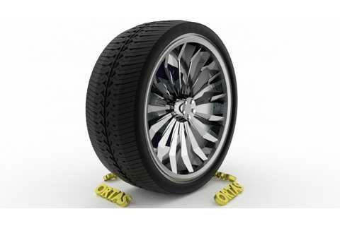 ORTAS CAR WHEEL RIM 140 GAME READY WHEEL RIM TIRE 3D