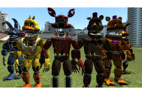 Garry's Mod (GMod) Five Nights at Freddy's 4 (FNAF 4) NPCs ...