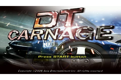 DT Carnage (2009) by Axis Entertainment PSP game