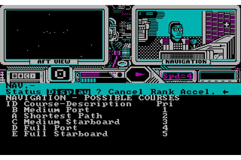 Psi 5 Trading Company vehicle simulation for DOS (1986 ...