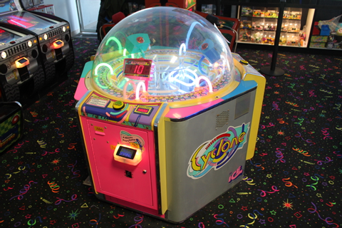 1X, CYCLONE (BY ICE) ARCADE GAME **** CARD SWIPE SYSTEM ...
