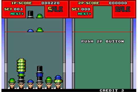 Hatris, Arcade Video game by Video System (1990)