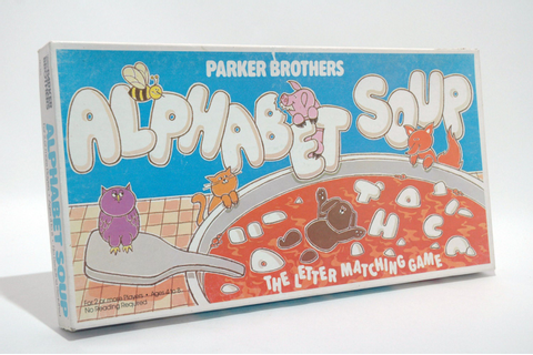 Alphabet Soup Letter Matching Game from Parker Brothers 1981