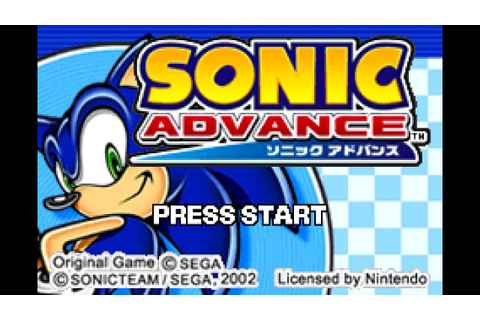 Sonic Advance playthrough ~Longplay~ - YouTube