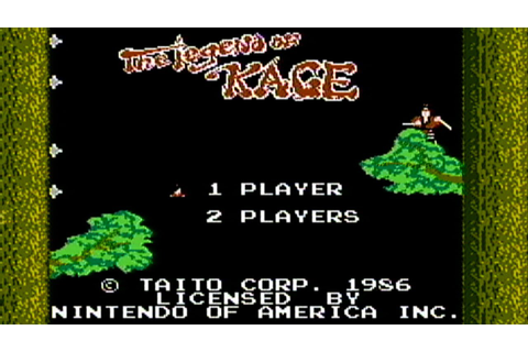 The Legend of Kage - NES Gameplay - YouTube