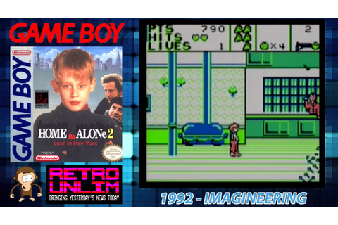 RetroPlay - Home Alone 2 on the Game Boy - YouTube