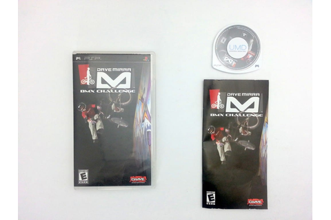 Dave Mirra BMX Challenge game for Sony PSP -Complete ...