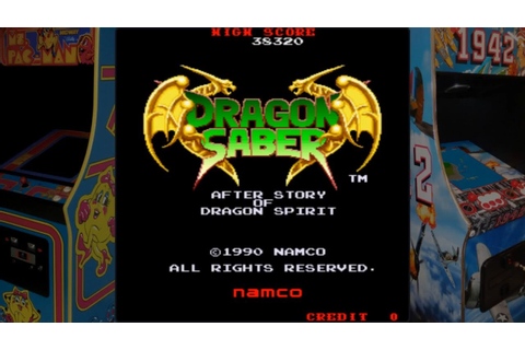 Dragon Saber - Namco (1990) / Arcade Game - YouTube