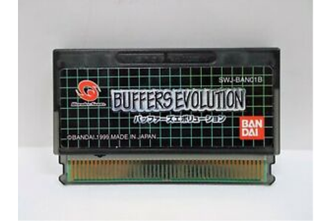 WS -- Buffers Evolution --WonderSwan, JAPAN GAME. BANDAI ...