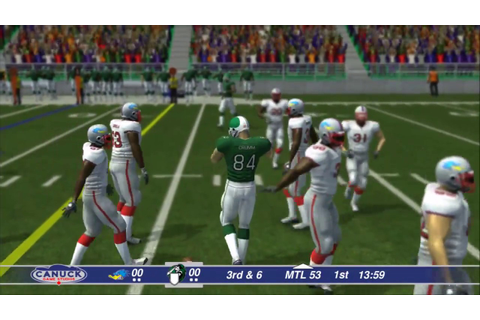 XBox One Canadian Football 2017 Gameplay - YouTube