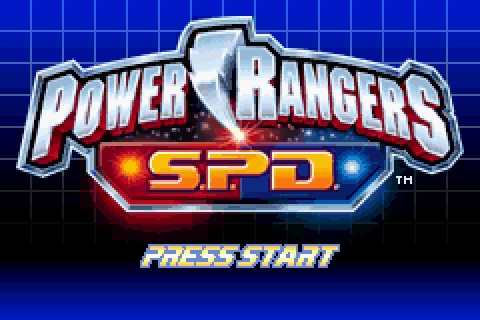 Power Rangers: S.P.D. (2006) by THQ GBA game