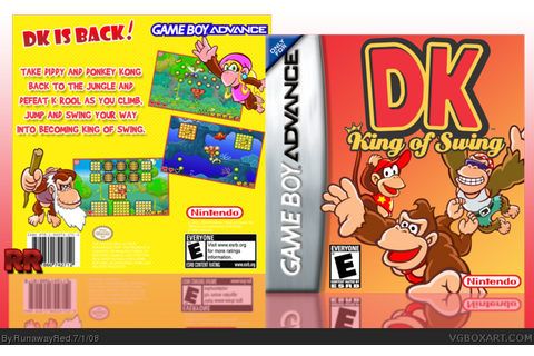 DK: King Of Swing Game Boy Advance Box Art Cover by RunawayRed