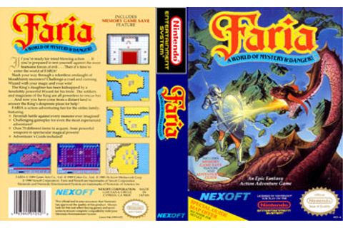 Faria: A World of Mystery and Danger! (NES) - The Cover ...