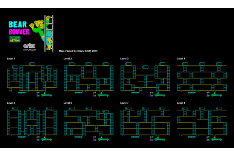 ZX-Spectrum Games - Bear Bovver - mapa