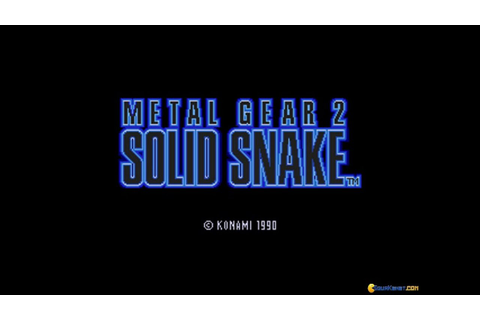 Metal Gear 2 - Solid Snake gameplay (PC Game, 1990) - YouTube