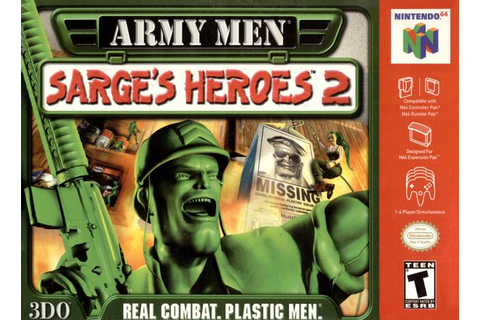 Army Men Sarge's Heroes 2 Gray Nintendo 64 Game