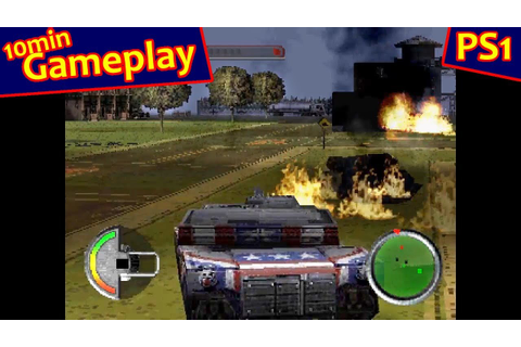World Destruction League: Thunder Tanks ... (PS1) 60fps ...