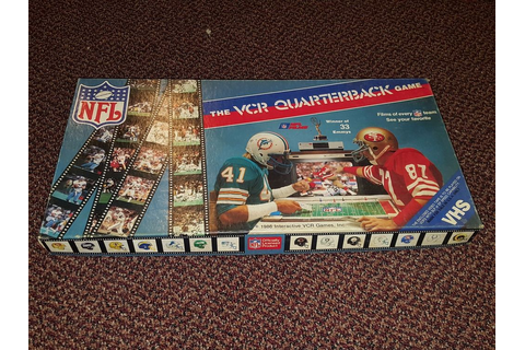 NFL Football VCR Quarterback Game VHS Board Game Complete ...